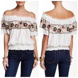 Free People   Sienna Embroidered Top Size XS